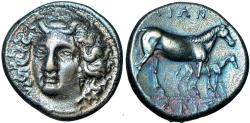 Ancient Coins - Thessaly, Larissa AR Drachm. Circa 380-365 BC.