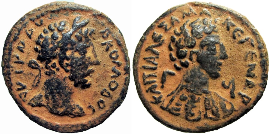 Ancient Coins -  SYRIA, Decapolis. Capitolias. Commodus. AD 177-192.  Stunning coin !!!!!!
