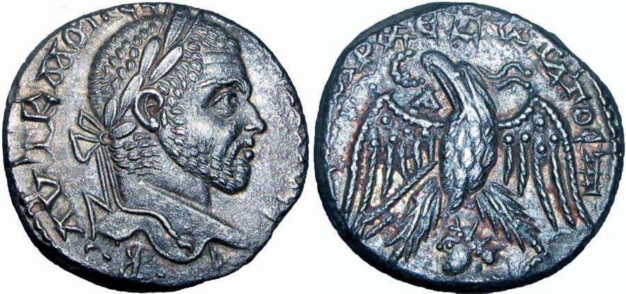 Ancient Coins - Syria, Seleucis and Pieria. Emesa. Macrinus. A.D. 217-218. sharp details.