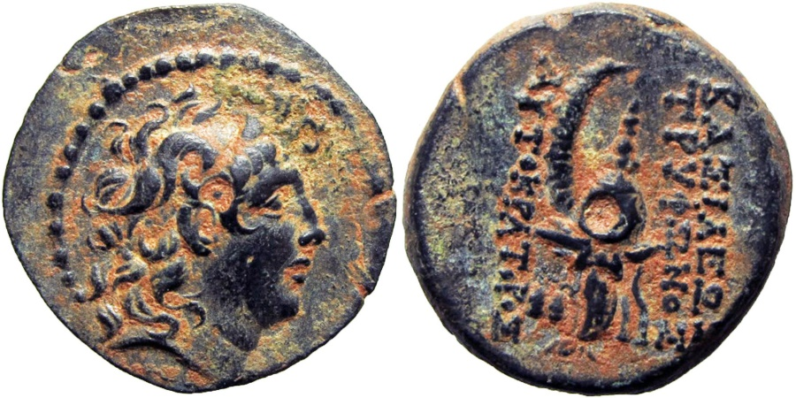 Ancient Coins - SELEUKID KINGS of SYRIA. Tryphon. Circa 142-138 BC. from the AF collection.