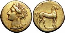 Ancient Coins - North Africa, Carthage EL Stater. Circa 310-270 BC.