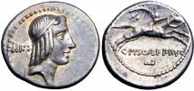 Ancient Coins - Roman republic, C. Piso L.f. Frugi. 61 BC. , EX NAC.