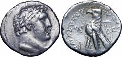 Ancient Coins - Phoenicia, Tyre AR Shekel. Dated CY 99 = 28/7 BC. Apparently Uniqe !!!