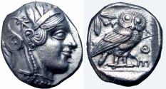 Ancient Coins - ATTICA, Athens. Circa 454-404 BC. read note.