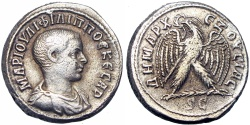 Ancient Coins - SYRIA, Seleucis and Pieria. Antioch. Philip II. As Caesar, AD 244-247.  Very Rareeee !