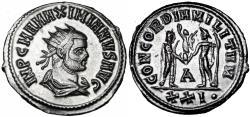 Ancient Coins - MAXIMIANUS. 286-305 AD. antoninianus, Siscia.