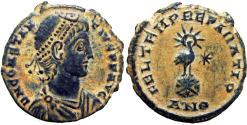 Ancient Coins - Constantius II, AE3, Antioch, 348-50 AD.