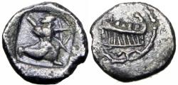 Ancient Coins - PHOENICIA, Sidon. `Abd`aštart (Straton) I. Circa 365-352 BC. , Very rare !!!
