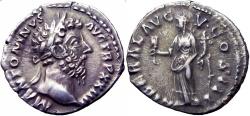 Ancient Coins - Marcus Aurelius. AD 161-180. Lovely portrait !!!