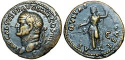 Ancient Coins - VESPASIAN. 69-79 AD. Æ As , Stunning details !!!