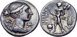 Ancient Coins - L. Valerius Flaccus. 108-107 BC.