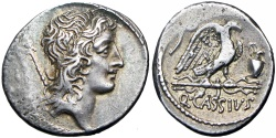 Ancient Coins - Roman republic;  Q. Cassius Longinus. 55 BC. , bold and lovely toned, EX NAC.