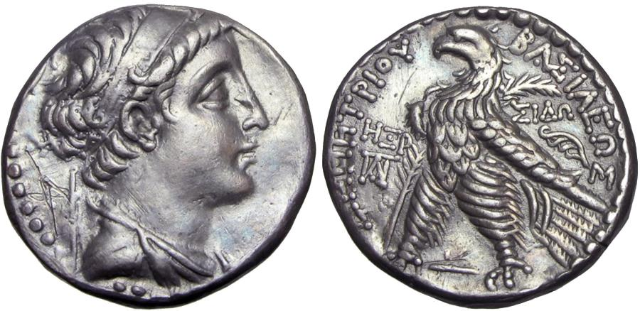 Ancient Coins - SELEUKID KINGS OF SYRIA. Demetrios II Nikator, first reign, 146-138 BC.