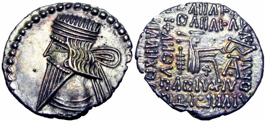 Ancient Coins - Parthia  , Pacorus I (AD 78-120), stunning.