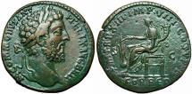 Ancient Coins - Commodus Æ Sestertius. Rome, AD 188.