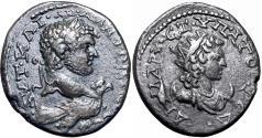 Ancient Coins - Caracalla AR Tetradrachm of Aradus, Phoenicia. AD 215-217.