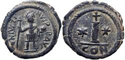 Ancient Coins - JUSTIN II. 565-578 AD. Stunning example !!!