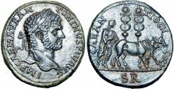 Ancient Coins - Caracalla Æ32 of Antioch, Pisidia. AD 197-211. Unpublished and stunning powerfull well detailed portirt !