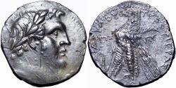 Ancient Coins - JUDAEAN, PHOENICIA, TYRE. 126/5 BC-65 AD. JUDAS' 30 PIECES OF SILVER.