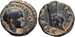 Ancient Coins - PHOENICIA, Byblus. Diadumenian. As Caesar, AD 217-218.  Unique and unpublished !!!!