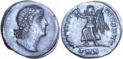 Ancient Coins - Constantius II, AR siliqua, Cyzicus, 337-347 AD. Unpublished.