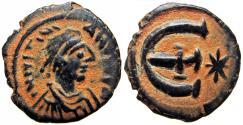 Ancient Coins - Justinian I. 527-565. Æ 5 Nummi, Stunning example.