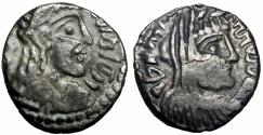 Ancient Coins - NABATAEA. Rabbell II, with Gamilat. AD 70-106. intresting undated issue .