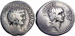 Ancient Coins - Mark Antony and Lucius Antony. 41 BC. AR Denarius .