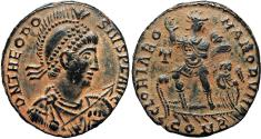 Ancient Coins - Theodosius I. AD 379-395. Constantinople mint.