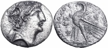 Ancient Coins - JUDAEA, SELEUKID KINGS of SYRIA. Antiochos VIII Epiphanes (Grypos). 121/0-97/6 BC. from a sea found.