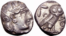 Ancient Coins - ATTICA, Athens. Circa 350-294 BC. stunning for the type !!!