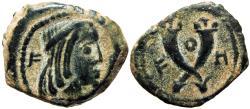 Ancient Coins - NABATAEA. Syllaeus and Aretas IV. 9-6 BC. Æ Quadrans