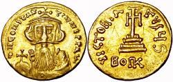 Ancient Coins - CONSTANS II. 641-668 AD. AV Light Weight Solidus of 23 Siliquae.