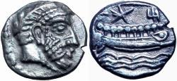 Ancient Coins - Phoenicia, Arados AR Tetrobol. Uncertain king, circa 380-351/0 BC.