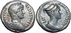 Ancient Coins - EGYPT, Alexandria. Hadrian and Sabina . AD 117-138.