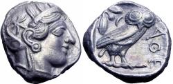 Ancient Coins - ATTICA, Athens. Circa 454-404 BC.