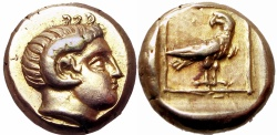 Ancient Coins - LESBOS, Mytilene. Circa 377-326 BC. Pleasing example !!