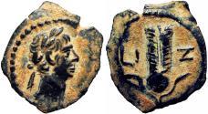 Ancient Coins - EGYPT, Alexandria. Trajan. AD 98-117. Æ Dichalkon. bold and stunning example.