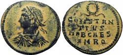 Ancient Coins - Constantine II, as Caesar, AE Follis. 326 AD. Rome mint, Very Rare !!!
