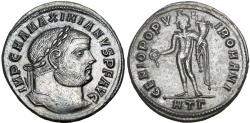 Ancient Coins - Maximian Follis. Heraclea, AD 294-8.
