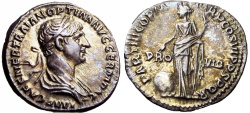 Ancient Coins - Trajan. AD 98-117. lovely strike and patina !!!!
