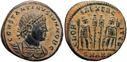 Ancient Coins - Constantine II. As Caesar, AD 316-337. Bold example !!!