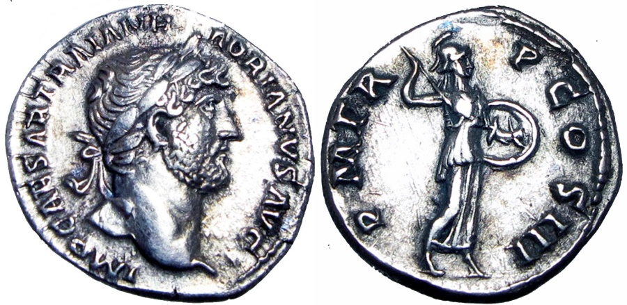 Ancient Coins - Hadrian. AD 117-138., Bold and stunning example !!!