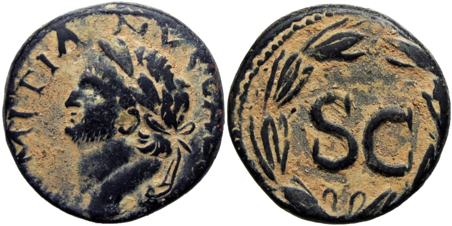 Ancient Coins -  SYRIA, Seleukis and Pieria. Antioch. Domitian. Year 125 (76-77 AD).