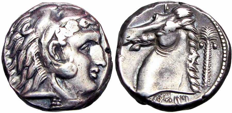 Ancient Coins - SICILY, Entella. Punic issues. Circa 300-289 BC.  Lovely and deeply toned.
