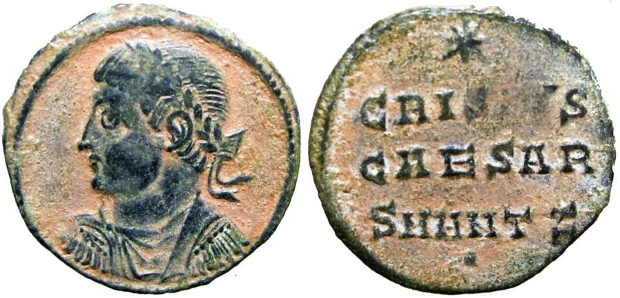 Ancient Coins - Crispus. Caesar, AD 316-326. Rare !!