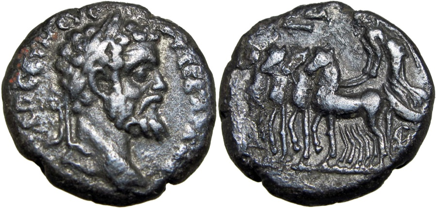 Ancient Coins - EGYPT, Alexandria. Septimius Severus. AD 193-211. Unique and unpublished for year 7 !!!!