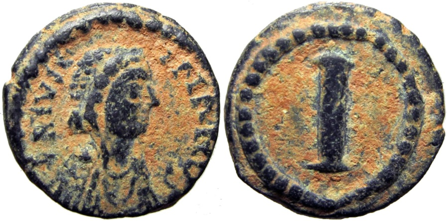 Ancient Coins - Justinian I. 527-565. Military mint at 'Salona'., Not only rare but the finest as well !!!!
