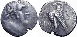 Ancient Coins - PHOENICIA, Tyre. 126/5 BC-AD 65/6. AR Shekel, JUDAS' 30 PIECES OF SILVER.  rare date.