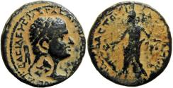 Ancient Coins - JUDAEA, Herodians. Agrippa I. 37-43 CE. an outstanding powerfull portrait , among the best examples.